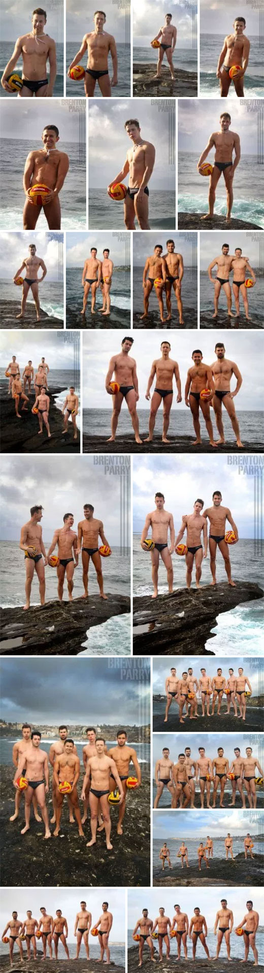 Gay Sydney Waterpolo Team in their Speedos