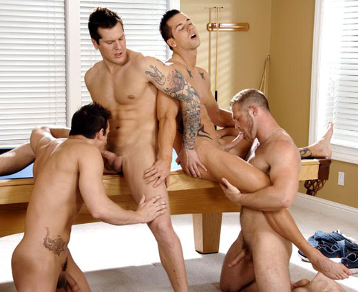 Guys Having a Foursome