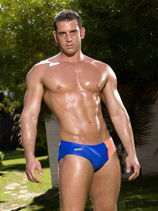 Erection in Tight Speedos