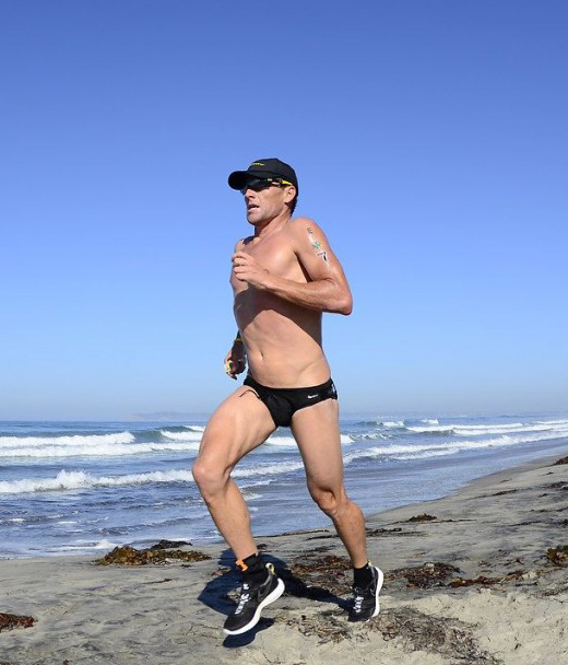 Lance Armstrong Running in a Speedo