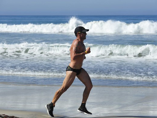 Lance Armstrong in a Speedo